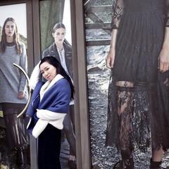 秋冬保暖多功能披肩盖毯,可外穿时装款,礼盒+颜色(外景图) 牛皮纸礼盒 宝石蓝