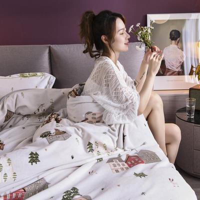 2020新款保暖绒系列——臻棉绒四件套 1.5m床单款 丹麦小屋