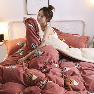 2020新款保暖绒系列——臻棉绒四件套 1.2m床单款三件套 多彩猬宝