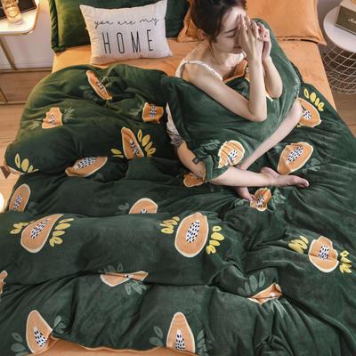 2020新款保暖绒系列——臻棉绒四件套 1.5m床单款 牛油橙果