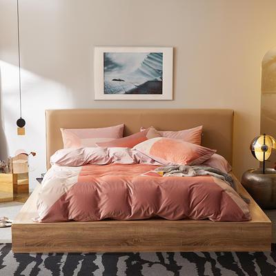 2019新款保暖绒系列——毛呢绒四件套 1.8m床单款四件套 未来风尚—靓丽橙