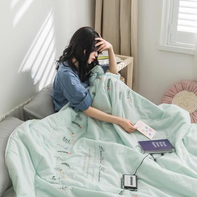 2020新款全棉单层纱夏被系列——棉芯 200X230cm 爱丽丝蓝