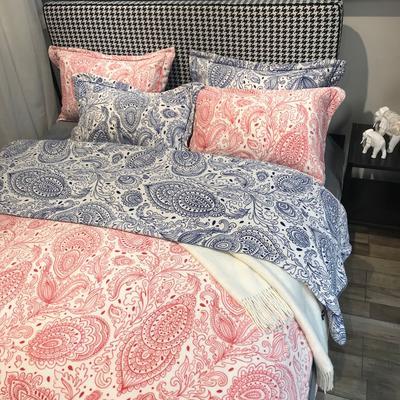 2020新款臻棉绒专版印花四件套----实拍图 1.5m床单款四件套 巴塞罗那-红