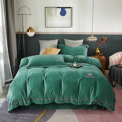 2020新款皇冠臻品系列四件套 1.8m床单款 塔姬绿