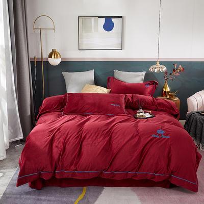 2020新款皇冠臻品系列四件套 1.8m床单款 松露红