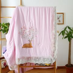 夏被 天丝长绒棉夏被粉色 200X230cm 天丝长绒棉夏被粉色