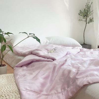 2019新款60s兰精天丝蚕蛹蛋白夏被(实拍) 200X230cm 优雅紫