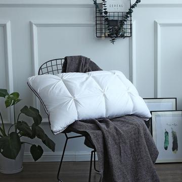傲蕾良品五星级80支柔赛丝羽绒枕芯枕头单人慢回弹高枕有支撑性