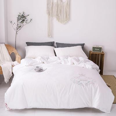 傲蕾良品正宗100%特级双宫桑蚕丝被全棉绣花冬被纯棉夏被定制 夏被:200X230cm 白色