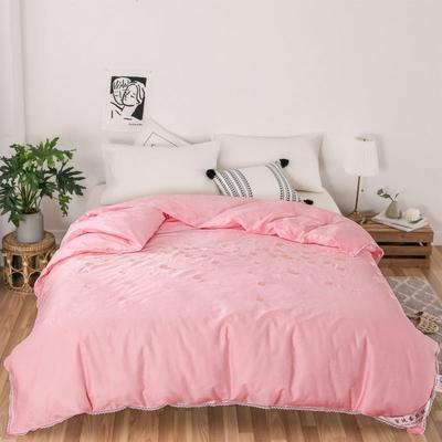 傲蕾良品60s全棉提花+绣花特级双宫桑蚕丝被春秋被冬被 夏被:200X230cm 粉色