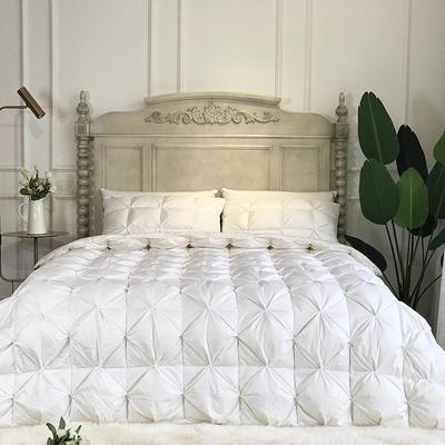傲蕾良品国产80支柔赛丝扭花95白鹅绒被冬被朵朵绒羽绒被 200X230cm 白色