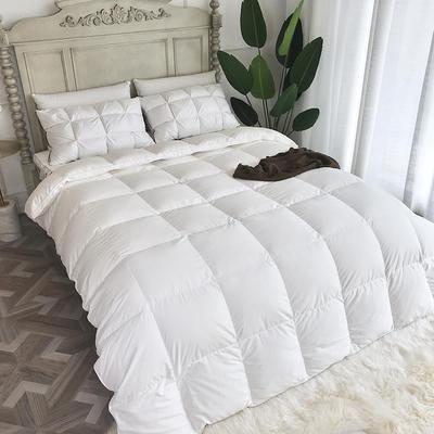 傲蕾良品高端国产120支微磨绒95白鹅绒被朵朵绒冬被羽绒被 200X230cm 白色