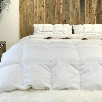 傲蕾良品匈牙利进口100支全棉缎纹95白鹅绒被冬被春秋被 200X230cm 白色