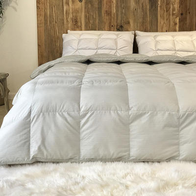 傲蕾良品匈牙利进口100支全棉缎纹95白鹅绒被冬被春秋被 200X230cm 灰色