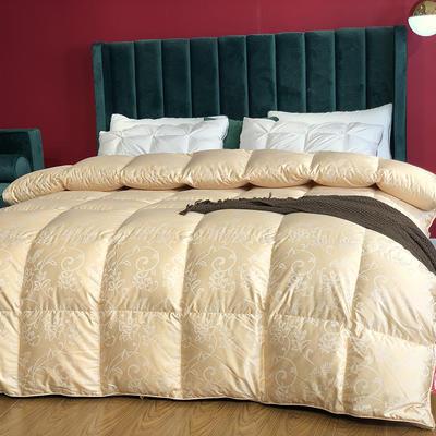 傲蕾良品匈牙利进口100支真丝棉大提花95白鹅绒被冬被春秋被 200X230cm 富贵年华