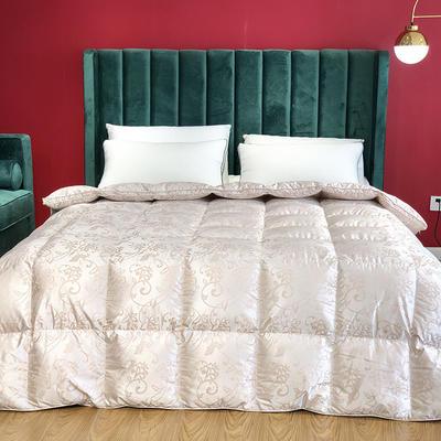 傲蕾良品匈牙利进口100支真丝棉大提花95白鹅绒被冬被春秋被 200X230cm 皇家风范