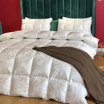傲蕾良品匈牙利进口100支真丝棉大提花95白鹅绒被冬被春秋被