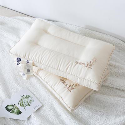 2019新款高端板蓝根纤维抗菌婴童枕(30×50cm/一只) 乳白色(30×50cm)