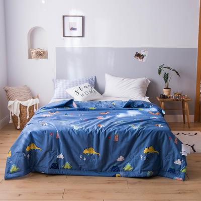 (汇总)傲蕾2020新款13372全棉印花大豆纤维夏被纯棉空调被 150x200cm 恐龙