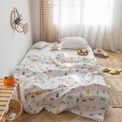 傲蕾2020新款夏被全棉双层纱蚕蛹蛋白儿童空调被可机洗 120x150cm(适合3岁以下) 森林王国