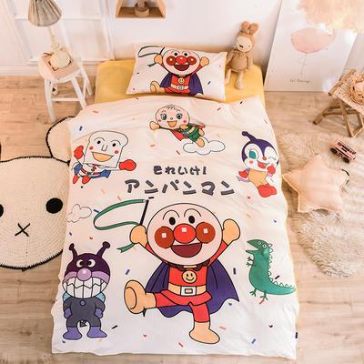 2019幼儿园被子三件套宝宝绒儿童卡通单人床被套水晶绒宝宝绒三件套秋冬婴儿床上用品 1.2m床单款三件套 超人