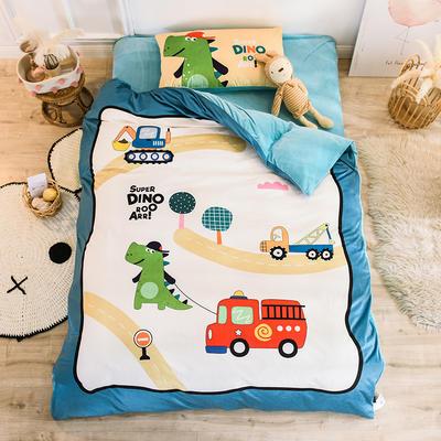 2019幼儿园被子三件套宝宝绒儿童卡通单人床被套水晶绒宝宝绒三件套秋冬婴儿床上用品 0.6m床单款儿童床三件套 小汽车
