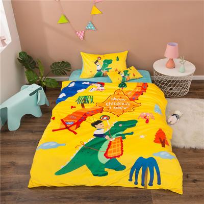 2020幼儿园被子三件套宝宝绒儿童卡通单人床被套水晶绒宝宝绒三件套秋冬婴儿床上用品 儿童床(被套120*150cm) 小王子