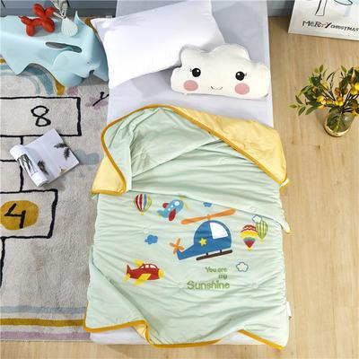 幼儿园儿童夏被空调被高克重凉感丝午睡盖被薄被子 120x150cm 航天梦