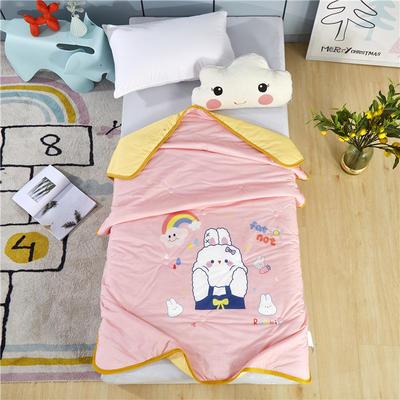 幼儿园儿童夏被空调被高克重凉感丝午睡盖被薄被子 120x150cm 小兔子