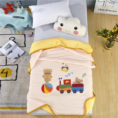 幼儿园儿童夏被空调被高克重凉感丝午睡盖被薄被子 120x150cm 小熊熊