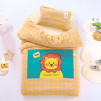 2021新款A类全棉水洗棉幼儿园被子三件套 儿童套件 被套120*150cm 狮子