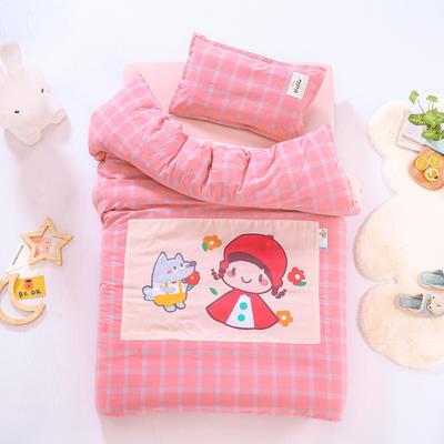 2021新款A类全棉水洗棉幼儿园被子三件套 儿童套件 被套120*150cm 小红帽