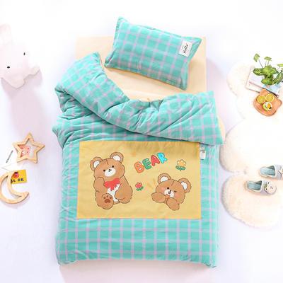 2021新款A类全棉水洗棉幼儿园被子三件套 儿童套件 被套120*150cm 小熊