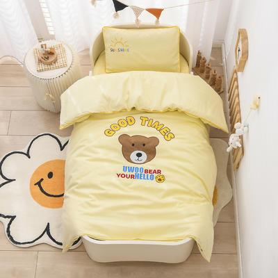 2021新款A类全棉贴布绣幼儿园被子三件套 儿童套件 单被套120*150cm 小熊