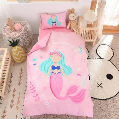 2021新款A类数码印花大版幼儿园儿童三件套 儿童床被套120*150cm 美人鱼