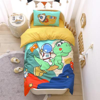 2021新款A类数码印花大版幼儿园儿童三件套 儿童床被套120*150cm 太空梦