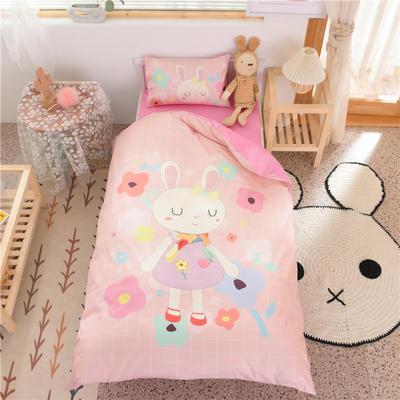 2021新款A类数码印花大版幼儿园儿童三件套 儿童床被套120*150cm 小兔子