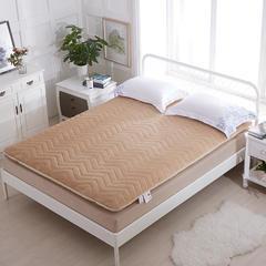 加厚法莱绒绗绣床垫 100*200cm 驼色