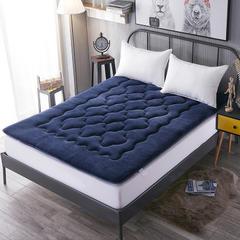 法莱绒梅花款床垫 90*200cm 宝蓝