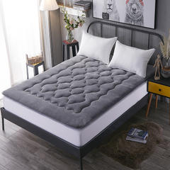 法莱绒梅花款床垫 100*200cm 灰色