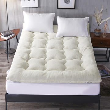 羊羔绒羽丝绒床垫 90*200cm 白色