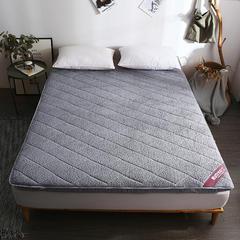 2018新款-羊羔绒绗绣床垫(5cm) 0.9 灰色