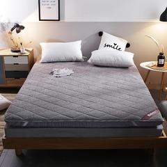 2018新款-羊羔绒绗绣床垫(10cm) 0.9 灰色