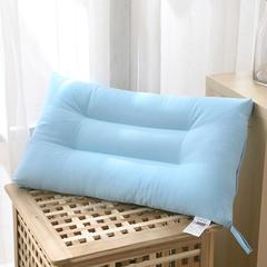 禾木家居 素色糖果色水洗枕芯 单人枕头 蓝