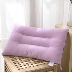 禾木家居 素色糖果色水洗枕芯 单人枕头 紫
