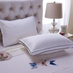 禾木家居 绗缝双飞边枕芯 可压真空枕头 立体单人枕芯 绗缝双飞边 48*74cm