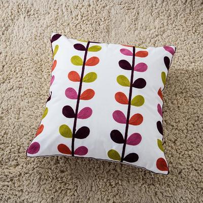 禾木家居 特种绣花靠垫 半绣花卉 抱枕套 节节高