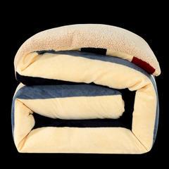 顺纺羊羔绒法莱绒可拆洗活套冬被+羊羔绒被子 150x200cm5斤 裸婚