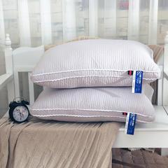 启艾家纺 全棉系列全棉立体绗缝立体羽丝绒护颈枕芯 灰