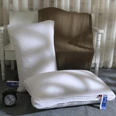 启艾枕芯 全棉立体绗缝立体羽丝绒护颈枕芯 白色